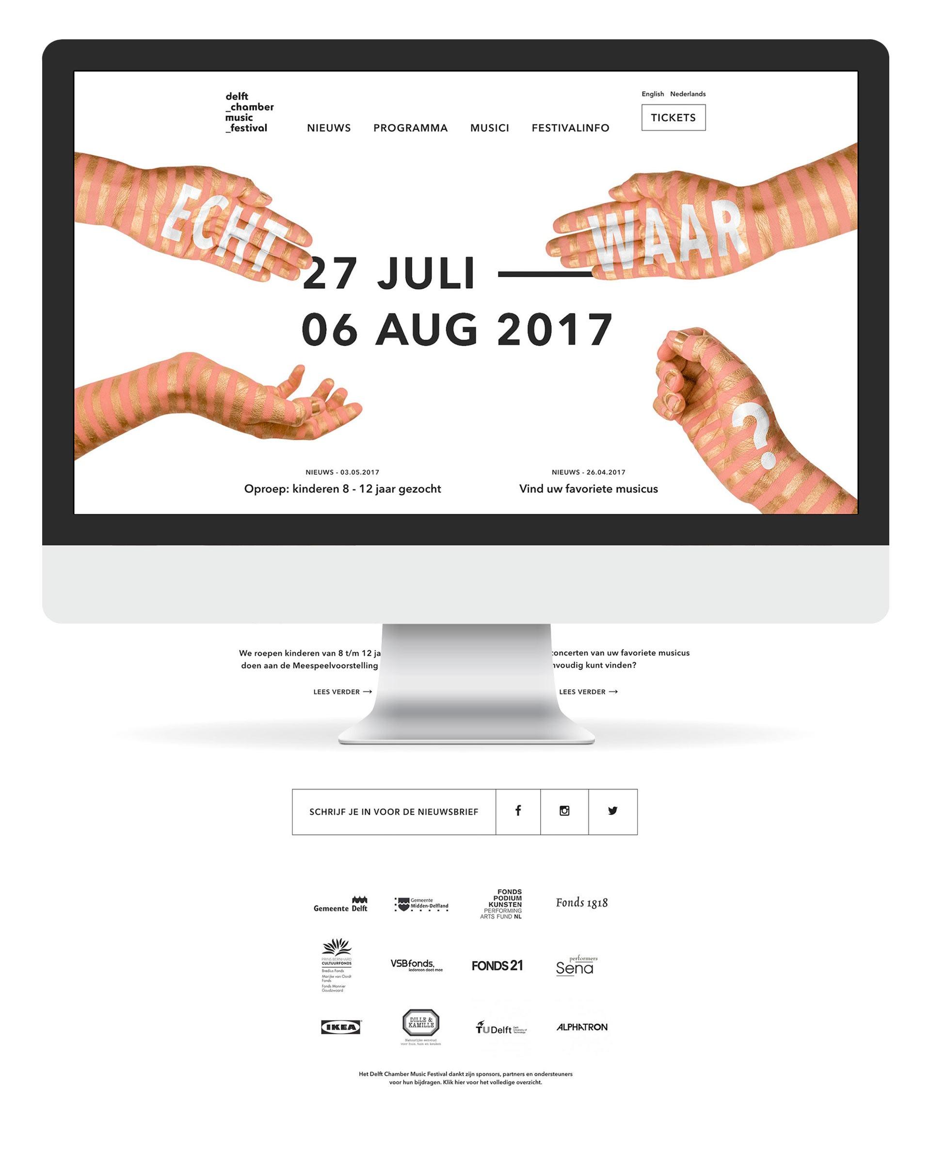 website web design web development delft chamber music festival de design club