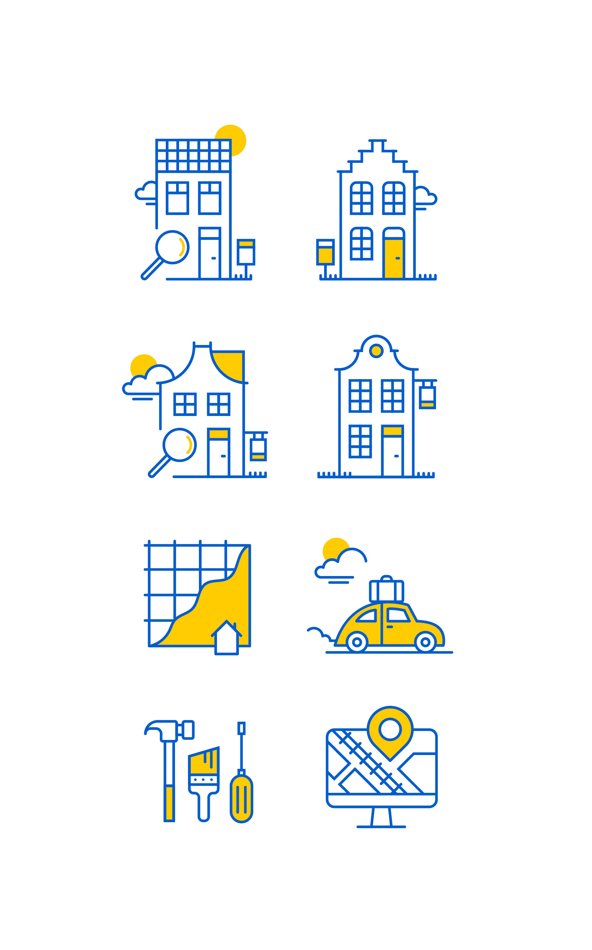 iconen illustratie ontwerp makelaar de design club